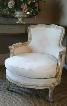 romantic corner...small French bergère and urn