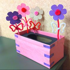 A Valentine box any girl would love!! A Flower box!!!