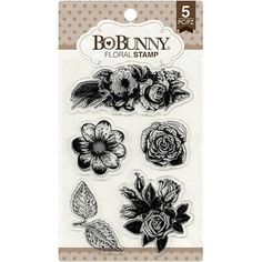 Bo Bunny - Clear Stamp Set - Floral - 12105894