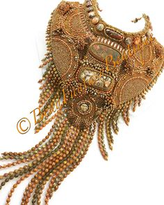Bead embroidered necklace by Nigora Reetz