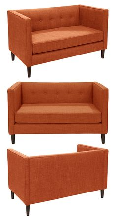 Cuddle up with a favorite book or cherished friend on this gorgeous Lana Loveseat. Inspired by mid-century silhouettes, this handsome sofa boasts a clean design…