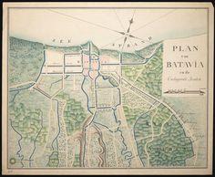 Plan van Batavia en de omliggende landen, 1800-1850 / Map of Batavia and surrounding countryside, 1800-1850 by Nationaal Archief, via Flickr