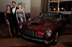 #tbt 2015 007 Black Tie Benefit.  Agents 002 007 and Solitaire with 1960 #astonmartin #db4 #007Benefit