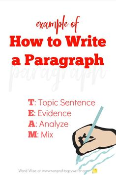 Example of how to write a paragraph with Word Wise at Nonprofit Copywriter #ContentWriting #WritingTips #WritingTutorials Easy Writing, Book Writing Tips, Blog Writing, Writing A Book, Transition Sentences, Writing A Thesis Statement, Giving Quotes, Blog Websites, Topic Sentences