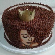 Resultado de imagem para bolo black power Pretty Cakes, Cute Cakes, Beautiful Cakes, Amazing Cakes, Make Up Cake, Love Cake, Creative Desserts, Creative Cakes, Foto Pastel