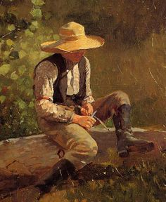 Winslow Homer...The Whittling Boy...1873