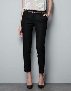 cropped dress pants women - Pi Pants