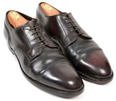 ALDEN Maroon #8 Cap Toe Blucher Oxford SHELL CORDOVAN Dress Shoes Mens 9.5 B/D #Alden #Oxfords