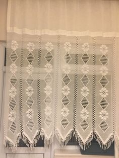 Crochet Baby Boots, Curtains, Home Decor, Crochet Curtains, Manualidades, Blinds, Decoration Home, Room Decor, Draping
