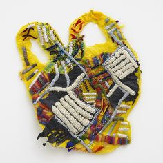Josh Blackwell transforms the humble carrier bag into these elaborate and colourful pieces of artwork, where he considers their previous life and easy thro