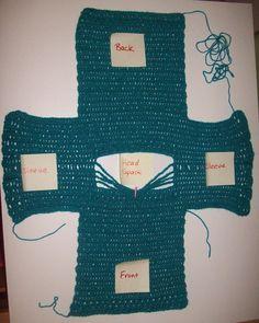 Simple Crochet Sweater Size 2