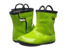 Robeez City Slicker Rainboot Mini Shoez (Infant/Toddler) (Macaw Green) Boys Shoes