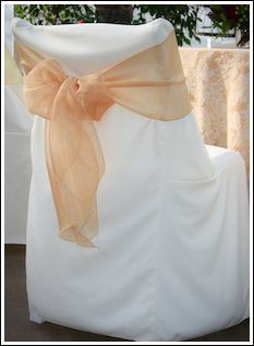Chair Rentals- Folding Chair Overlay /Cover. Complete the look with a matching table runner and chair sash. Check out our other chair covers at Eventrentalutah.com or follow our board on Pinterest