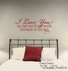 Wall Decal  Romantic Love Marriage  I love you to by bushcreative, $25.00