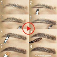 Anleitung zu den perfekten Augenbrauen für Ihre Shape Pictures, Perfect Eyebrows, Face Shapes, Make Up, Perfect Brows, Face, Tutorials, Makeup, Beauty Makeup