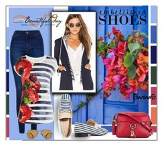 Casual Outfit by ganing on Polyvore featuring мода, Karen Millen, Central Park West, Topshop, Joseph, Rebecca Minkoff, Ray-Ban, Spring, chic and fashionset