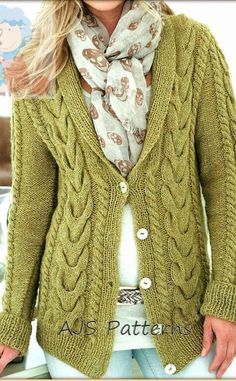 PDF Knitting Pattern for Ladies Pretty