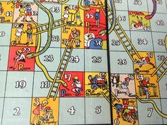 The Snakes and Ladders board game of my childhood. Real vices and virtues were illustrated as an object lesson.