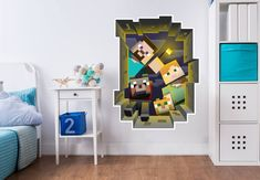 Wall Sticker Minecraft - Caved in Wall