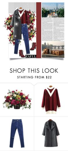 """""""zaful.com lkid=5695 (70)"""" by mell-2405 ❤ liked on Polyvore featuring Allstate Floral and Nine West"""