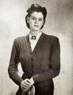 1940s war era free vintage knitting pattern plus size vogue's 24th knitting book