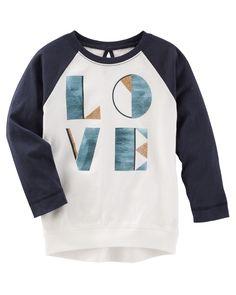 Toddler Girl TLC Love Raglan Tunic | OshKosh.com