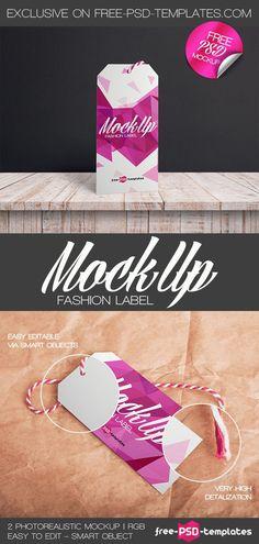 2 Free Fashion Label Mock-ups in PSD   Free PSD Templates   #free #photoshop #mockup #psd #fashion #label