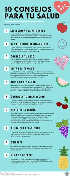 10 consejos para cuidar y disfrutar de tu salud Salud Natural, Words, Tips, Foods, Horse