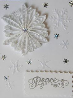 Quilled snowflake card.