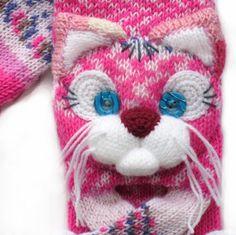 Gestrickte Katze Schal Schal gestrickt tierische Schal Katze