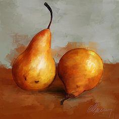 still life paintings | Still Life Painting by Michael Greenaway - Pears Still…