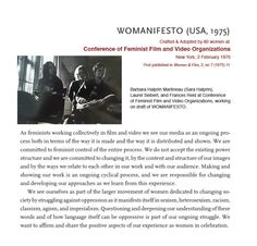 Early women's film conference, again via Ariel Doughtery. More 'organising' than 'organisation', though it connects into the organisations I imagine!