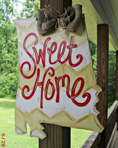 'home sweet home' on an NC outline?! adorable!