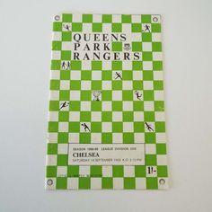 Vintage 1968 Queens Park Rangers Versus Chelsea Football Soccer Programme by VintageBlackCatz on Etsy