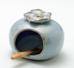Pale Blue Salt Cellar by Adventursinclay on Etsy