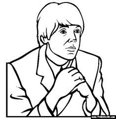 paul mccartney coloring page free paul mccartney