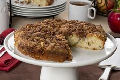 Celebrate apple season with a homestyle Apple Coffee Cake that simply shouts comfort. Imagine taking this coffee cake warm out of the oven, and serving it with a scoop of ice cream, or enjoying it as a morning treat. Talk about the perfect autumn recipe! Apple Recipes Easy, Fruit Recipes, Baking Recipes, Cake Recipes, Dessert Recipes, Recipies, Recipe Using Apples, Apple Coffee Cakes, Coffe Cake