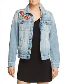 128.00$  Watch here - http://vikhp.justgood.pw/vig/item.php?t=s687l7x22692 - AQUA Rose Denim Jacket - 100% Exclusive 128.00$