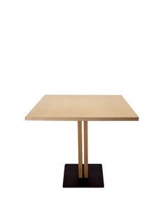 SANDWICH 354 TABLE Base and central column in natural iron, painted with matt polyurethane or RAL lacquer. The column can be clad in solid wood, and the table top can be finished with natural or laminated wood