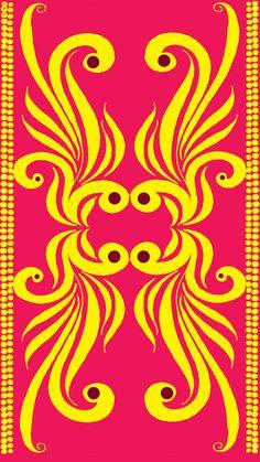 stencil pattern Rangoli Patterns, Stencil Patterns, Stencil Designs, Embroidery Patterns, Print Patterns, Mural Painting, Border Design, Surface Pattern Design, Repeating Patterns