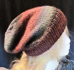 Offset ribbing creates the pattern for Eraman, a comfy slouch hat that makes a great winter project that you can wear now or a small summer project that you can wear later. Worked from the bottom up in the round, it goes fast and makes a great gift! Free pattern