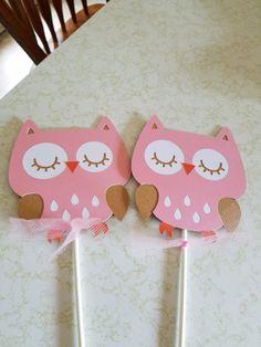 Owl Baby Shower centerpiece sticks, owl baby shower, owl centerpiece, owl party, its a girl shower Owl Centerpieces, Baby Shower Centerpieces, Shower Party, Baby Shower Parties, Transportation Birthday, Its A Boy Banner, Shower Banners, Baby Owls, Valentine Crafts