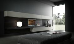 FACE by Modulnova . refined minimal interior design that deliberately abandons the signs of tradition to create an atmosphere typical of our times. A stunning range of design options are available – link in bio. Interior Design Living Room, Living Room Designs, Living Spaces, Minimalist Design, Modern Design, Bedroom Tv Wall, Tv Wand, Muebles Living, Cabinet Design