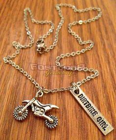 Dirt Bike / Dirt Bike Girl Charm Necklace