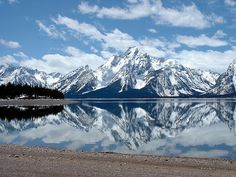 Grand Teton National Park- if you thought the Tetons were beautiful in the Summer you should see them in the Winter.