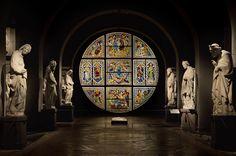 Sibille, Profeti e Filosofi dell'antichità, scolpite da Giovanni Pisano presso il Museo dell'Opera del Duomo di Siena