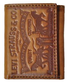 Another great find on Brown Embossed Original Riveted Leather Wallet