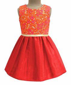 Loving this Red Happy Flora Embroidered Dress - Infant, Kids & Tween on #zulily! #zulilyfinds