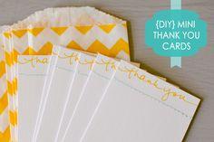 DIY Mini Thank You Cards » Casa de Lewis