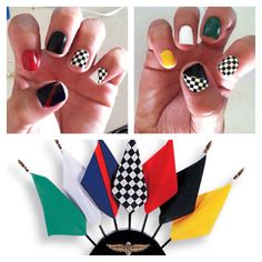 Jazz up your race day fashion routine with this nail polish idea!